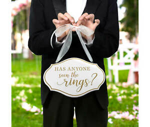 Has Anyone Seen The Rings Sign Wedding Carrying Holding For Ring Bearer Page Boy