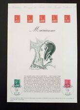FRANCE MUSEE POSTAL FDC 28-76   SERIE MARIANNE DE BEQUET   0,80+1F   PARIS  1976