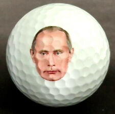"""3 Golf Balls 3 with """"People You Want To Hit"""" on Back Vladimir Putin on Front"""
