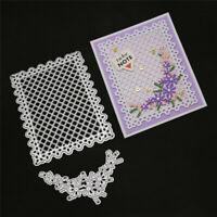 Stanzschablone Karo Hintergrund Blume Weihnachten Hochzeit Karte Album Deko DIY