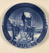 Royal Copenhagen -Christmas Plate -1946 - Zealand Village Church- NEW!