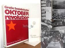 DDR Buch 1982: über UdSSR Oktoberrevolution Geschichte ( SED Ehrengeschenk )book