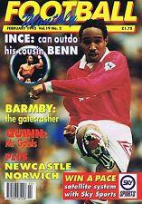 INCE / BARMBY / QUINN / NEWCASTLE / NORWICHFootball MonthlyFeb1993