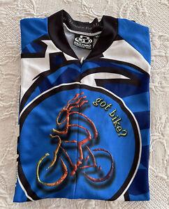 Pactimo Sportswear Bike Cycling Full Zip Jersey Mens Shirt Top Got Bike Size XL