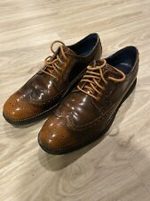 Cole Haan Lunargrand Wingtip Oxfords 10.5 M Brown Casual Lace Up Shoes