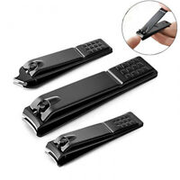 Black Stainless Steel Nail Cutting Nail TrimmerToe Nail Clipper Tool/
