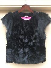NEIMAN MARCUS/TARGET SKAIST TAYLOR Women's Crushed Velvet Vest Black in Small