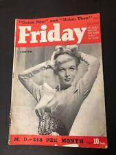 Vtg Friday Magazine November 1940 Veronica Lake femme fatale Clair Bee