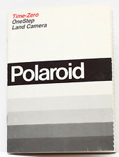 Polaroid Time-Zero OneStep Instant Film Land Camera Manual Guide English 1980s