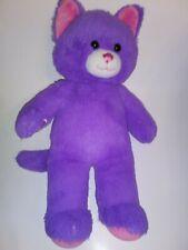 "Build A Bear Purple And Pink Cat 18"" Plush Stuffed Animal"