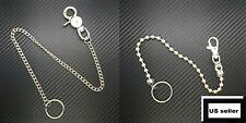 Men Silver Long Wallet Chains Metal Links Key Chain Jeans Trousers Chunky Biker