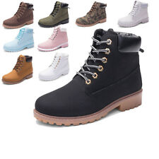 Winter Women's Work Boots Leather Boot Lace up Outdoor Waterproof Snow Boot NEW