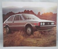1976 VW Scirocco Sales Brochure Volkswagen 1 sheet card