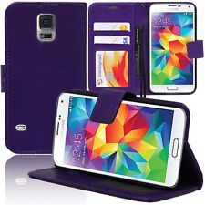 Etui Housse Portefeuille Video VIOLET Samsung Galaxy S5 V G900 / S5 Duos/ Plus