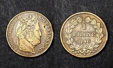 1 Franc 1846 A. Faux d'époque, ou des Colonies. Louis Philippe I°. Bronze