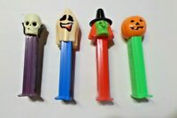 Vtg. PEZ Dispensers Lot of 4 Halloween Witch Ghost Pumpkin Skeleton 6926