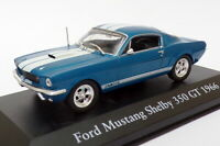 Atlas Editions 1/43 Scale 2 891 009 - 1966 Ford Mustang Shelby 350 GT Blue/White
