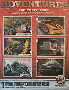 Burger King Adventures 2007 Kids Activity Magazine Vol 18 Issue 6 Transformers