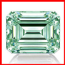 3.95ct vvs1/9.22mm Ice Blue Color Loose Emerald Real Moissanite Diamond 4 Ring