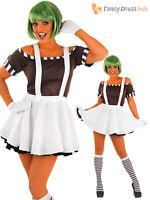 Adults Mens Ladies Umpa Loompa + Wig Oompa Factory Book Week Fancy Dress Costume