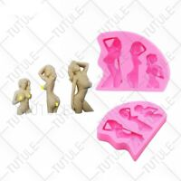 Big Breasted Nude Female Women Beauty Chocolate Lollipop Body Art Silicone Mold