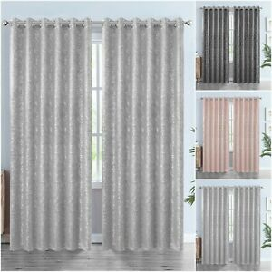 Thick Thermal Blackout Curtains Eyelet Ring Top Ready Made Heavy Pair +Tie Backs