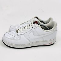 NIKE Air Force 1 Men's White Leather Sneakers Size 11 315122-135