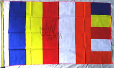 Buddhist Flag 23 Inch x 38 Inch | Five (5) Flags | Original 100%
