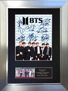 BTS No1 Signed Autograph Mounted Photo Repro A4 Print 759