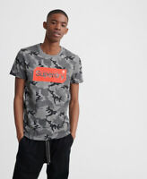 Superdry Mens Core Logo Tag Camo All Over Print T-Shirt