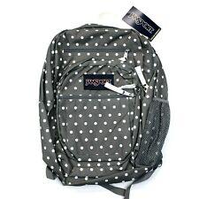JanSport - Big Student School Backpack / Bookbag - Shady Gray / White Dots