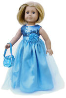 "18"" Doll clothes-18"" doll princess Dress: 2 pc incl-  Ftis American Girl Dolls"