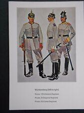 MILITARY POSTCARD- WURTTEMBERG -GERMAN UNIFORMS WW1