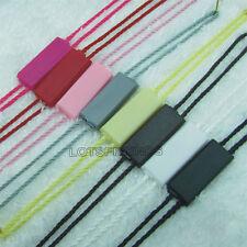 100 Double plug Hang Tag String Plastic Lock Label Fastener Hook Tie 26cm 8color