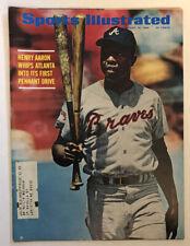 1969 Sports Illustrated, Baseball magazine Hank Aaron Atlanta Braves Original