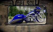 Harley Roadglide Blue iPhone 5C through 7S+Samsung Galaxy S5,S6 or S7 custom pho