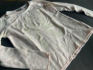 MAISON SCOTCH Rosa meliertes Sweatshirt Miami Deco Gr.1 36