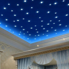 FT- 76Pcs Luminous Stars Glow in the Dark Wall Stickers Decals for Kids Room Nat