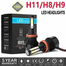 2019 H11 LED Headlight 6000K 2000W 300000LM 4-Side Low Beam lamps High Power JOY
