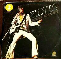 ELVIS DOUBLE DYNAMITE! Double LP Album 1975 RCA Pickwick Record Camden DL2-5001