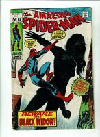 Amazing Spider-man #86, GD+ 2.5, Black Widow Gets Iconic Costume