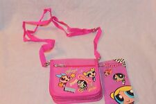 "NEW WITH TAGS  PINK WINGS POWERPUFF GIRLS  STRAP COIN WALLET 4"" X 5"""