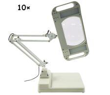 10X LED Magnifier Lamp Light Magnifying White Glass Lens Desk Table Repair