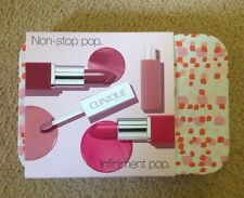Clinique Non Stop Pop Infiniment Pop Lipstick Set Brand New Limited Edition Tin