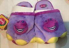 New RARE Barney Dinosaur Bedroom Slippers Kids Size Small 5-6 18cm Length