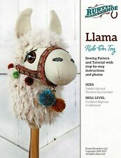 """""""Llama"""" Ride-On Toy Sewing Pattern By Rustic Horseshoe"""