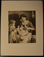 """""""See-Saw, Margery Daw"""" Photogravure Etching by J. J. Guy Beautiful! Circa 1889"""