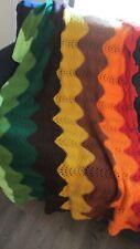 Handmade Vintage  crochet afghan / throw blanket 42 X50