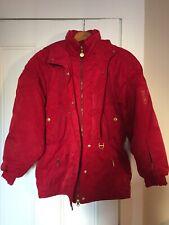Women's Vintage Descente Red Gold Ski Jacket Coat Size 8