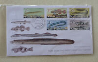 2017 NEW ZEALAND FISH SET OF 5 STAMPS FDC FIRST DAY COVER